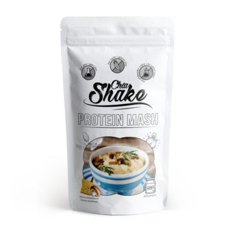 chia shake sýrovo žampiónová proteinová kaše