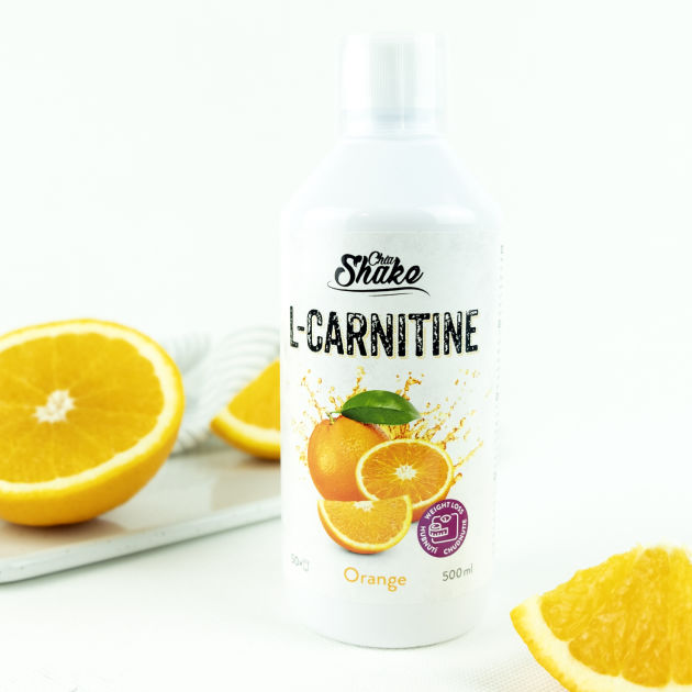 láhev tekutého l-carnitinu s příchutí pomeranč