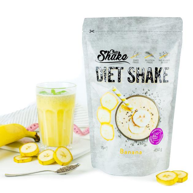 dietní koktejl banán chia shake