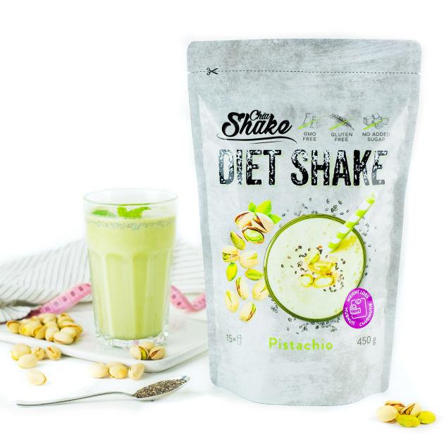 diet shake od chia shake pistáciový koktejl proteinový