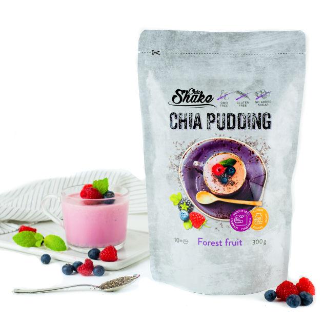 pudink lesní plody od chia shake