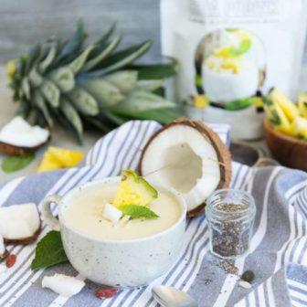chia pudink pina colada kokos ananas