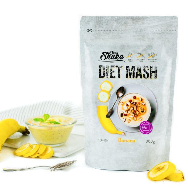 dietní kaše banán chia shake