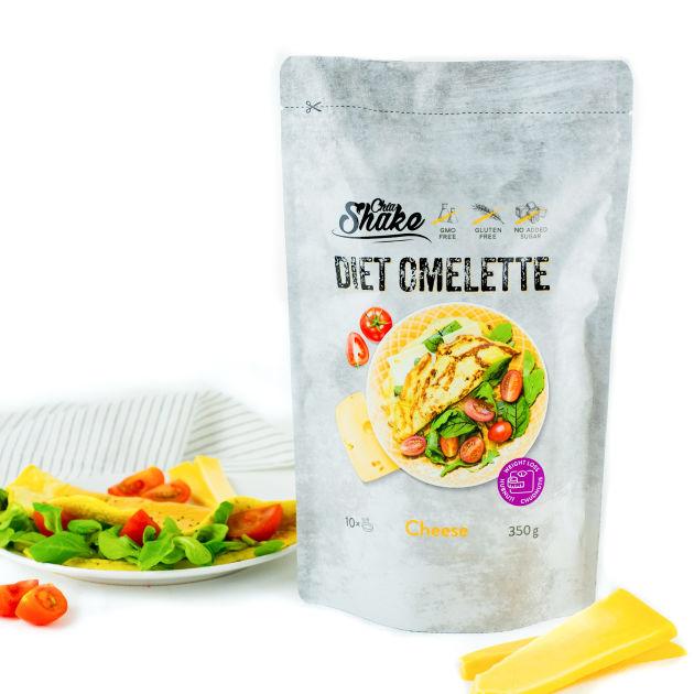dietní omeleta sýrová chia shake