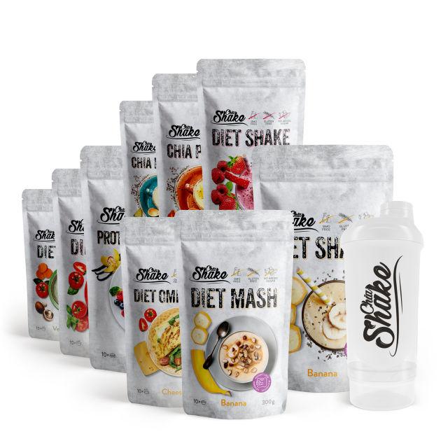 balíček produktů chia shake na 30 dnů hubnutí