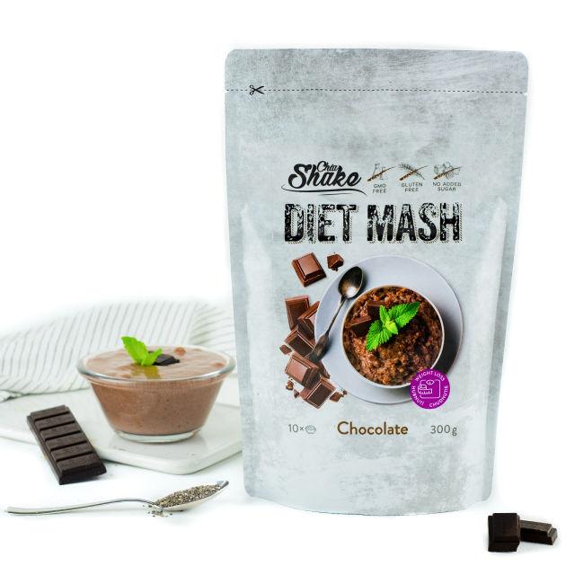 dietní kaše čokoláda chia shake