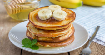 chia shake lívance s banánem
