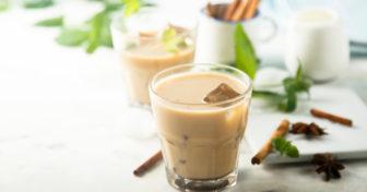 skořicové zdravé latté