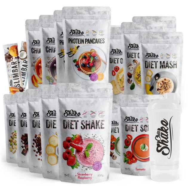 velký dietní balíček na 8 týdnů hubnutí výroby chia shake a shaker