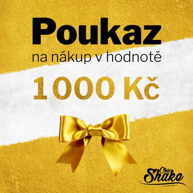 chia shake poukaz na nákup v hodnotě 1000 kč