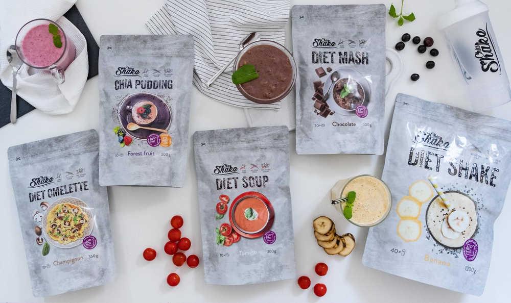 dietní výrobky chia shake