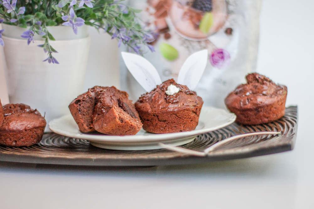 zdravé velikonoční recepty čokoládové muffiny králíci