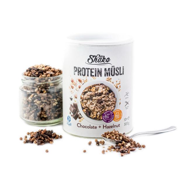 proteinové müsli čokoláda oříšek