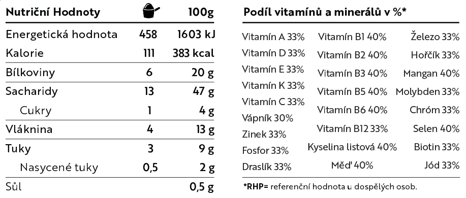Vegan protein shake jahoda složení