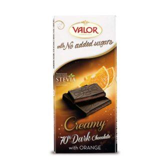 Valor Čokoláda s pomerančovou náplní