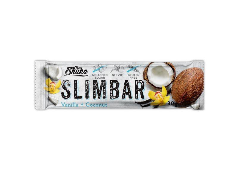 Levně Chia Shake Proteinová tyčinka SLIMBAR vanilka+kokos 30g