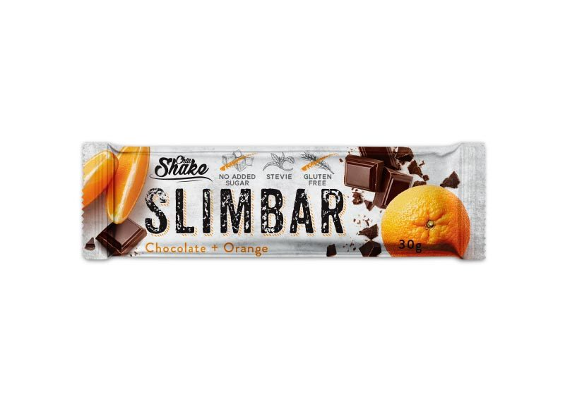 Levně Chia Shake Proteinová tyčinka SLIMBAR čokoláda+pomeranč 30g